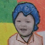 Kinderen schilderen een zelfportret