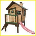 Snel bouwpakket houten speelhuisje voor in de tuin