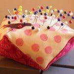 Speldenkussen naaipatroon uit twee vierkantjes