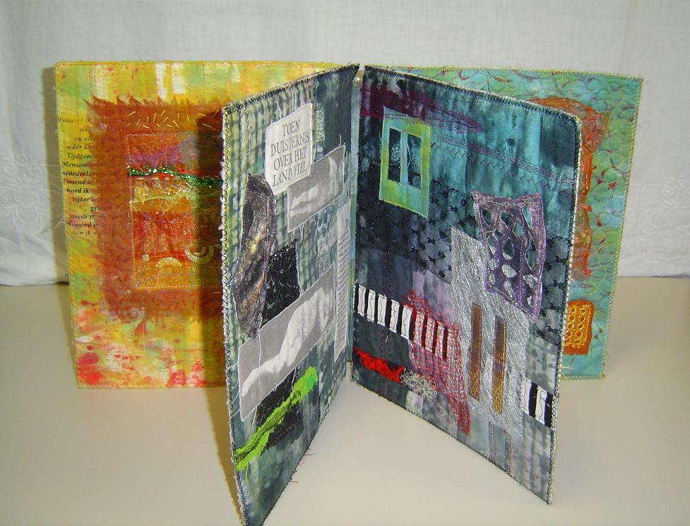 hoe textiel collages maken