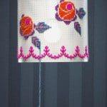 Lamp borduren met borduurpatroon
