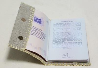 Hoes maken voor paspoort of boek met werkbeschrijving