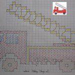 Kruissteekpatroon brandweerauto borduren