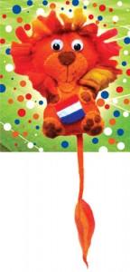 WK leeuw van vilt gratis patroon