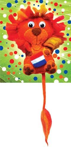 Gratis patroon oranje WK leeuw
