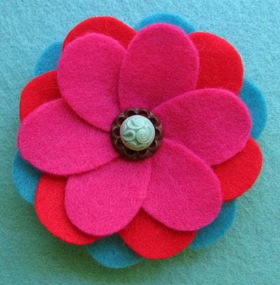 Bloemen van vilt maken, uitleg en patronen