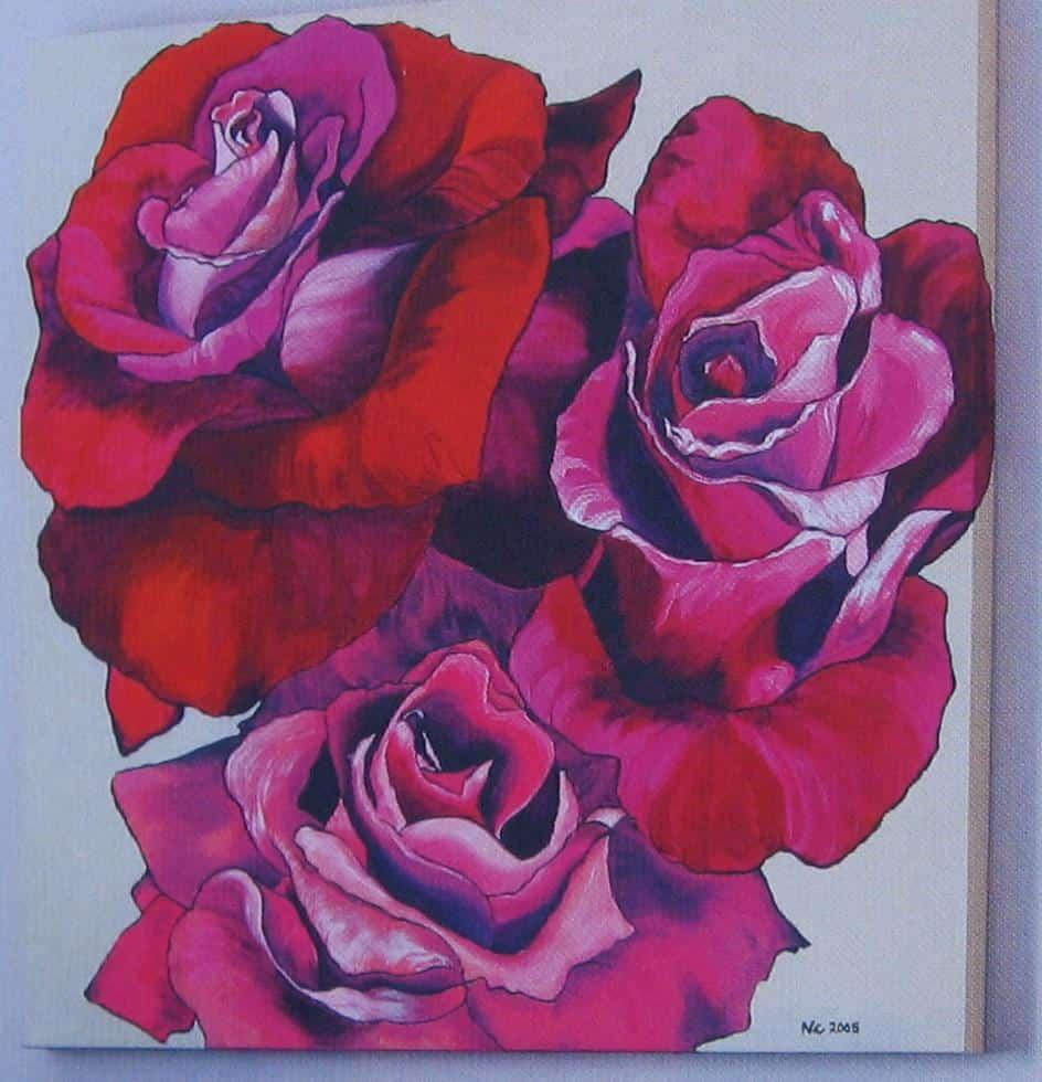 Super Hoe mega grote roos schilderen op doek - Hobby.blogo.nl @YE15
