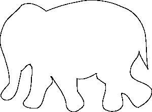 simpele tekening knuffel olifant