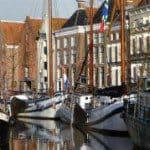 Winter evenement in de stad Groningen
