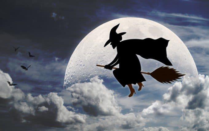Heksenbezem maken voor Halloween