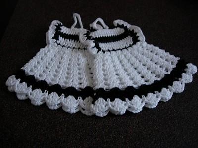 Haakpatroon pannenlap jurk haken