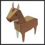 Bouwplaat paard ook voor sinterklaas surprise