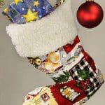 Patroon laars en sok van kerstman als decoratie
