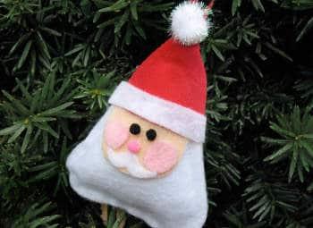 Kerstman maken uit lapjes vilt