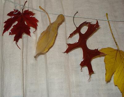 Creatief in de herfst een herfstslinger knutselen