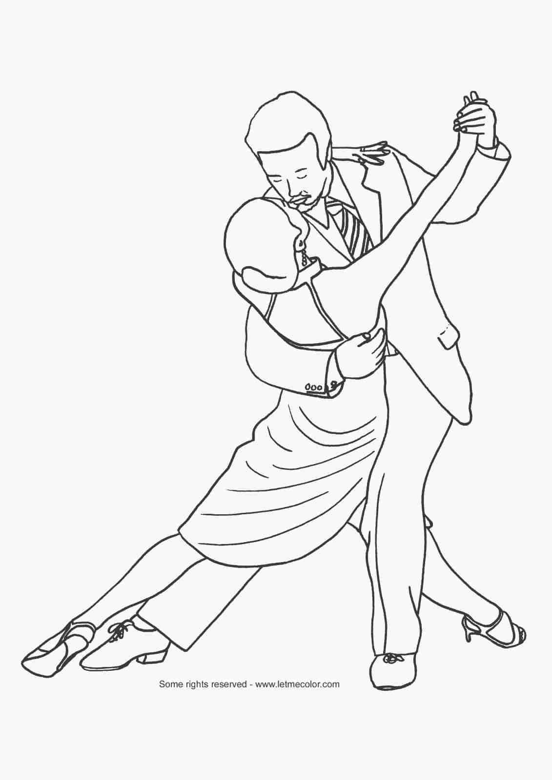 Gratis Kleurplaten Dansen.Kleurplaat Dansen Hobby Blogo Nl