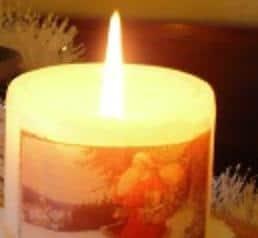 Kaarsen versieren met servetten techniek