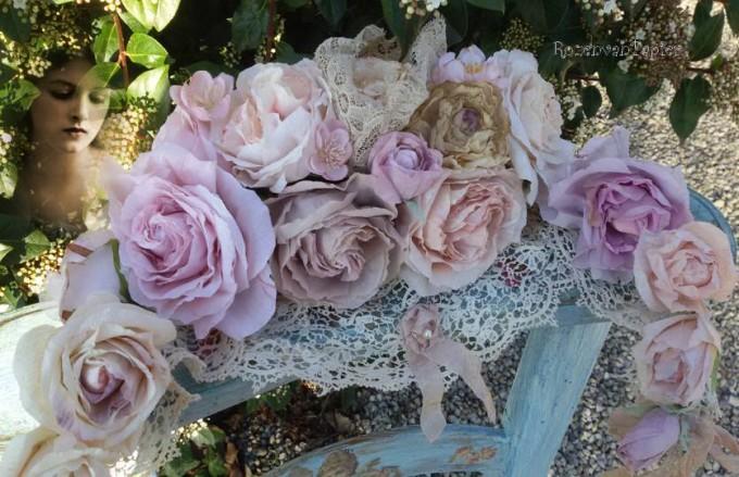 guirlande lila roos