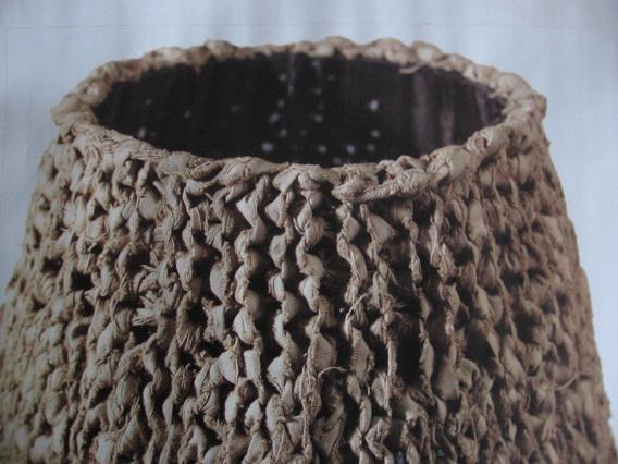 Breien met repen gescheurd katoen
