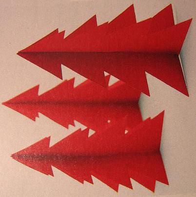 3D kerstklok kerstboom kaart kerstversiering 3 003