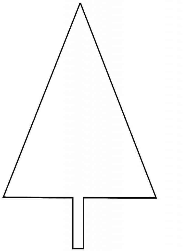 Alternatieve kerstboom plakken op de muur