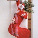 Stevige kerstsok maken met gratis patroon