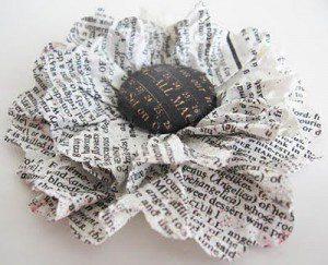 bloem vorm papier