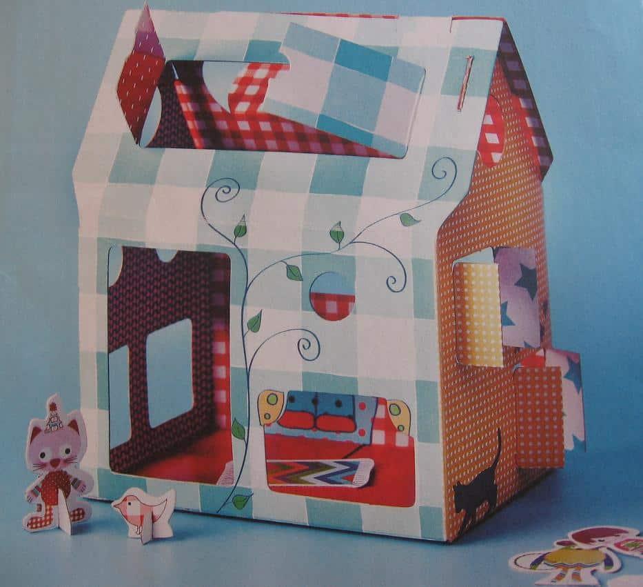 Eigen unieke kartonnen minihuisje maken for Huis maken surprise