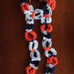 Ketting sjaal maken van kleurig t-shirt