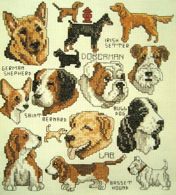 Borduurpatroon Westie West Highland White Terrier Hobby