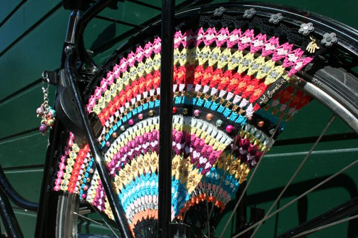 Haakpatroon jasbeschermer op de fiets