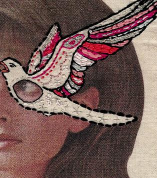 Borduren is schilderen met naald en draad. Geweldig leuk en creatief zijn de borduurwerken van Laura McKellar uit Australië. Ze borduurt alsof ze schildert en daardoor ontstaan de mooiste kunstwerken.
