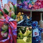 Cadeau en bloemen fair trade inpakken in een wrappel