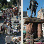 Antiekmarkt, kilometers lang en historisch stadje bezoeken