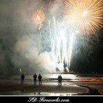 Vuurwerk show in Scheveningen