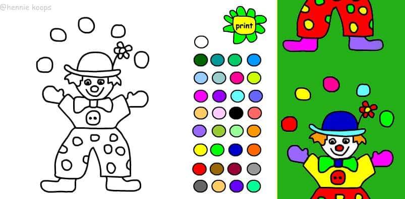 Educatief Kleurplaten Printen.Simpele Digitale Kleurplaten Zijn Flashkleurplaten Hobby