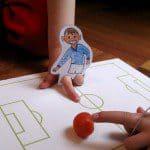 WK of EK voetbal oranje knutselen
