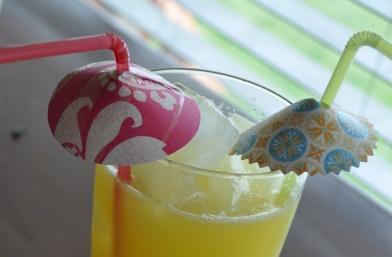 Parasolletje en parapluutje in limonade zelf maken
