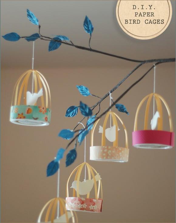 Vogelkooitjes knutselen met papier en karton / BRON: creaturecomfortsblog.com