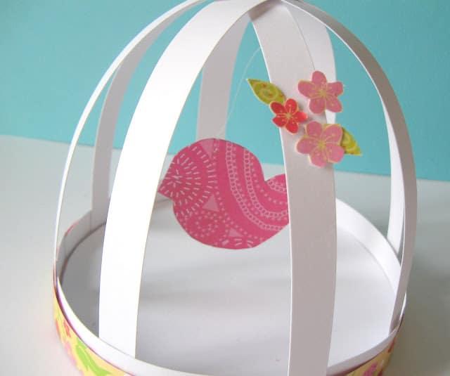 Vogelkooitjes knutselen met papier en karton / BRON: craftberrybush.com