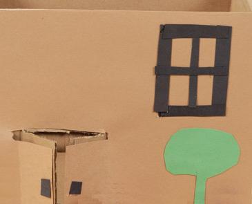 Snoephuisje maken van kartonnen doos