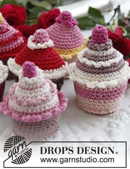 Gratis patronen cupcakes breien of haken
