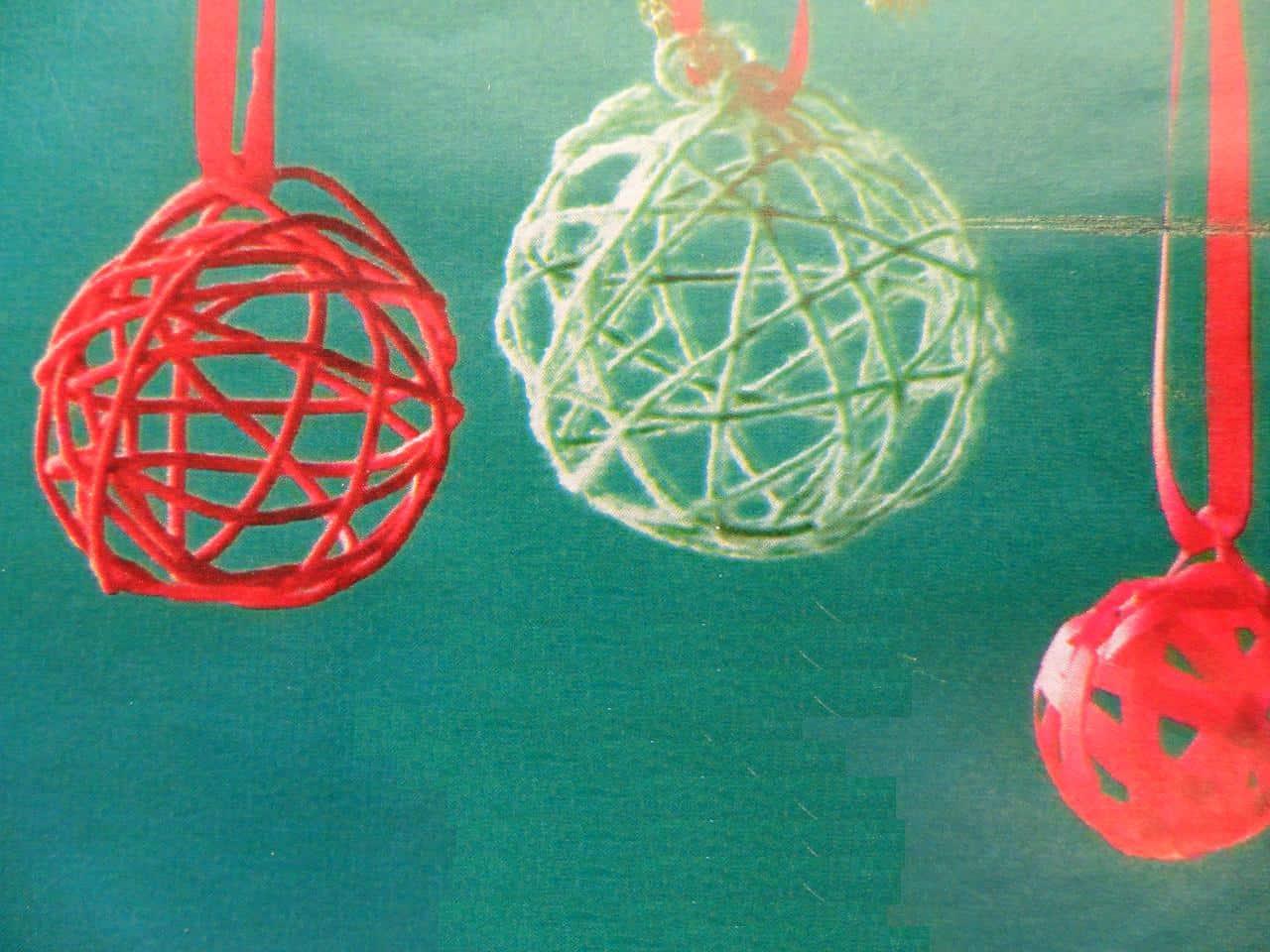 Van Draad Touw En Lint Een Decoratie Bal En Kerstbal Maken Hobby