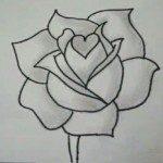 Roos tekenen doe je zo, snel en makkelijk