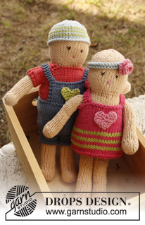 Gratis patroon meisje en jongetje pop breien en kleertjes
