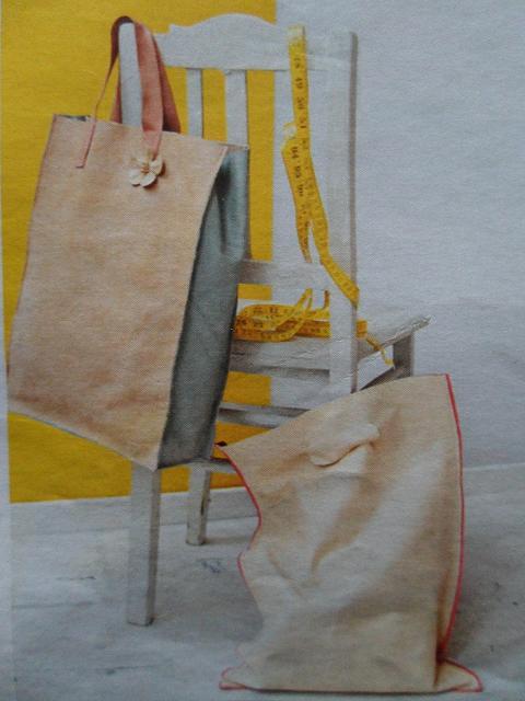 Zelf tas maken van leer met simpel patroon