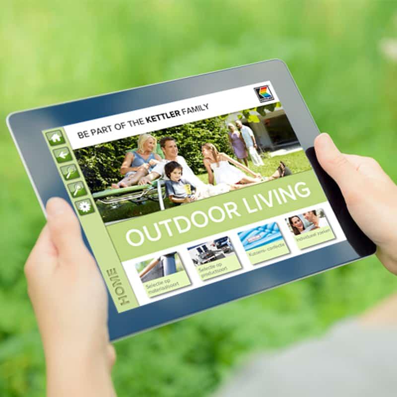 Groene woonkamer en tuinkamer digitaal inrichten hobby.blogo.nl