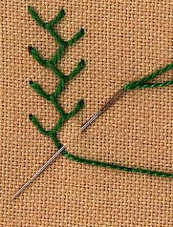 Woonkussen maken met vilt en festonsteek / BRON: inaminuteago.com<br /> (een site met werkuitleg borduursteken)