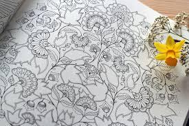creatief kleurboek zwart wit tuin tekeningen 1