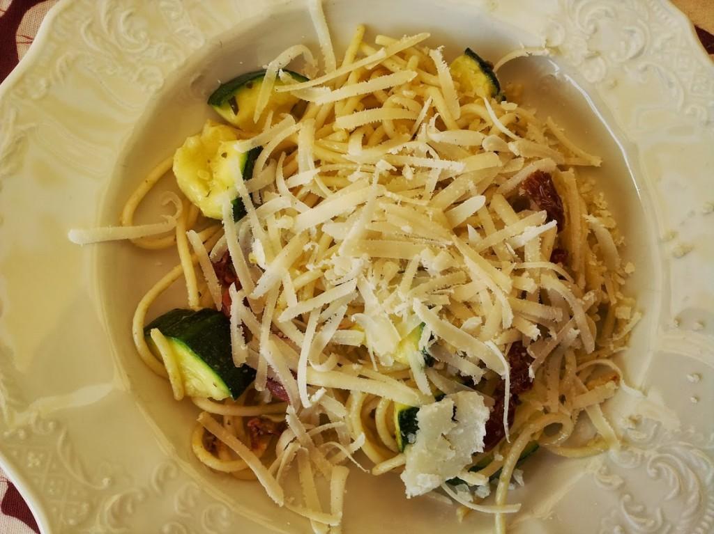 vegetarische pasta snel klaar en lekker